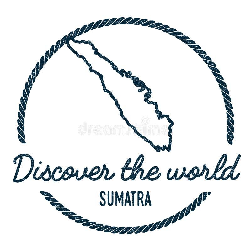 Sumatra mapy kontur Rocznik Odkrywa świat ilustracji