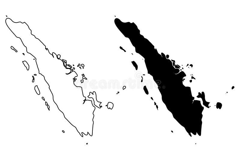 Sumatra mapy wektor royalty ilustracja