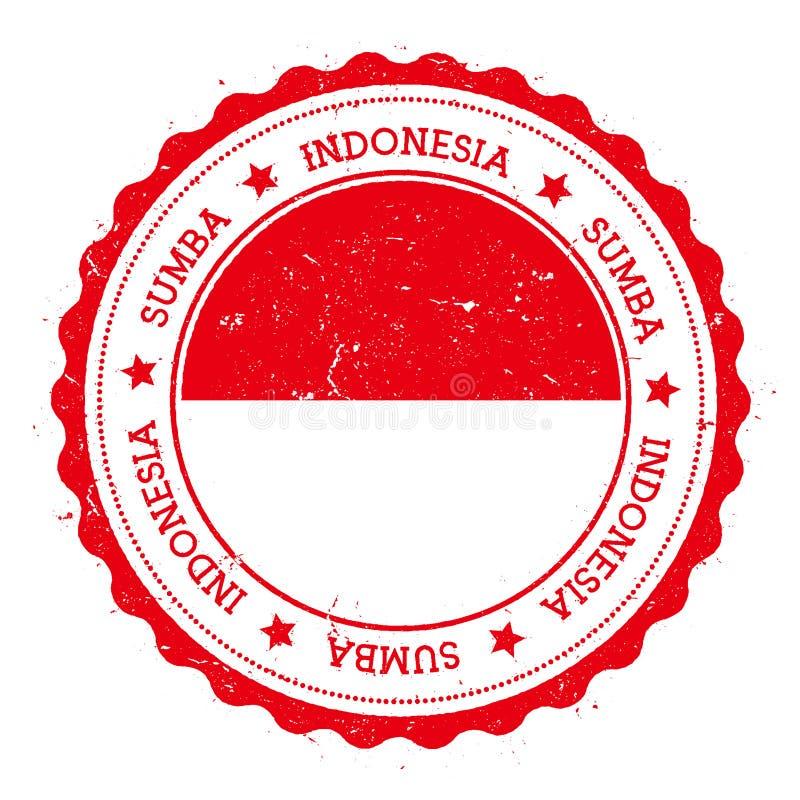 Sumba flaga odznaka ilustracja wektor