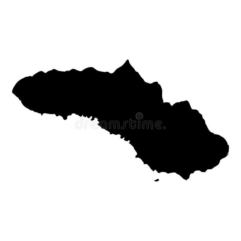 Sumba mapa ilustracji