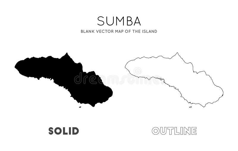 Sumba mapa royalty ilustracja