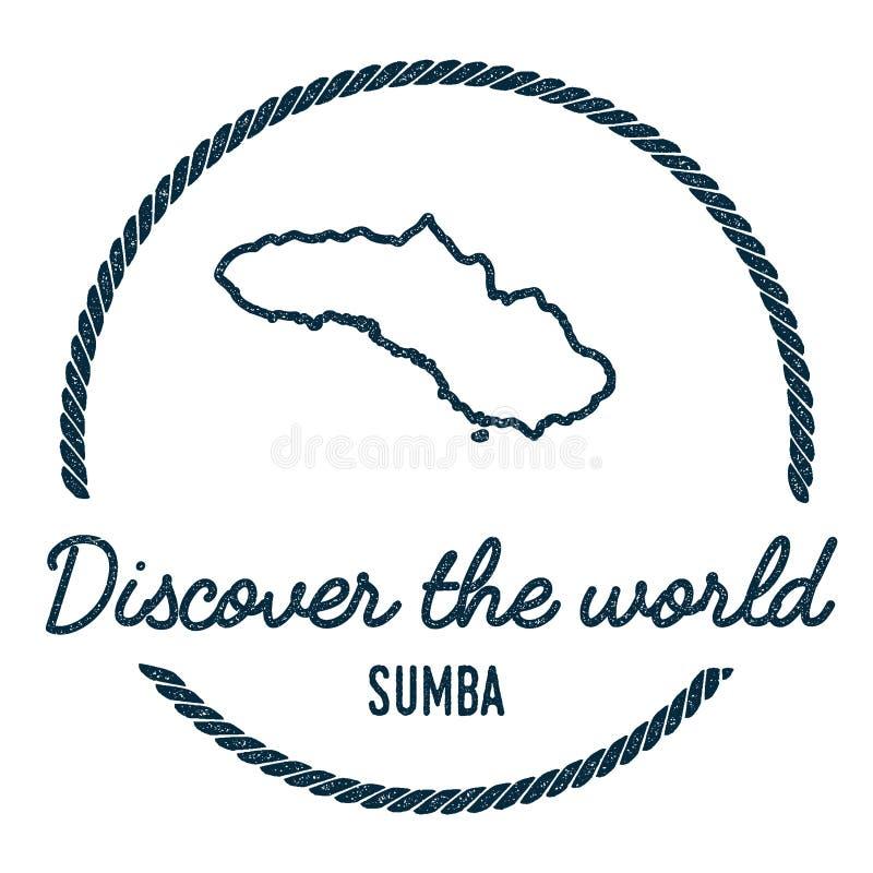 Sumba mapy kontur Rocznik Odkrywa świat royalty ilustracja