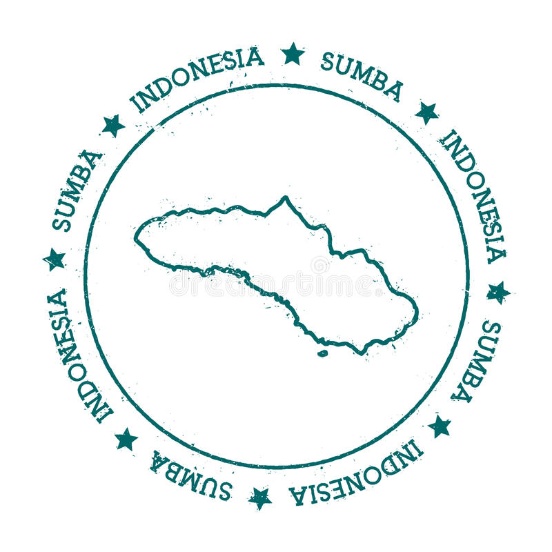 Sumba wektorowa mapa ilustracja wektor