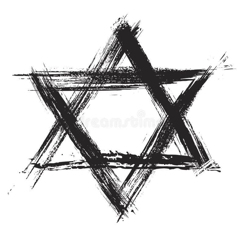 Sumbol van het judaïsme stock illustratie