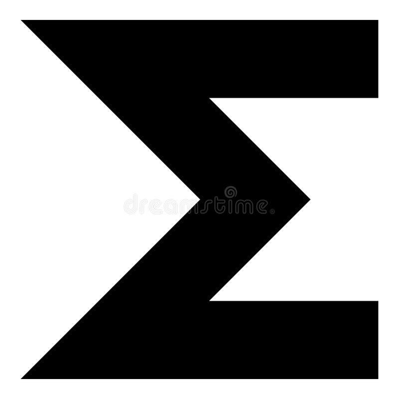 Sume la imagen simple del estilo plano del ejemplo de color del negro del icono del símbolo ilustración del vector