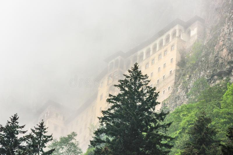 Sumela Greek Monastery a Trebisonda, Turchia fotografia stock libera da diritti