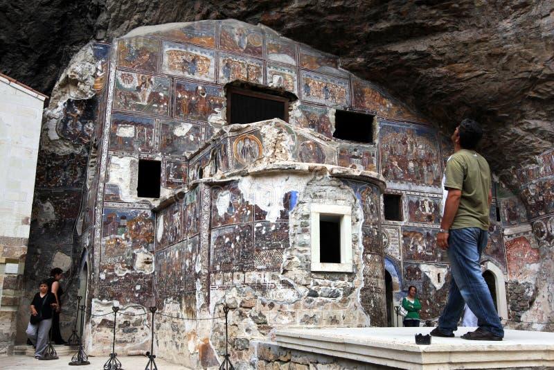 Sumela Monastery dichtbij Trabzon op de kust van de Zwarte Zee van Turkije stock afbeelding