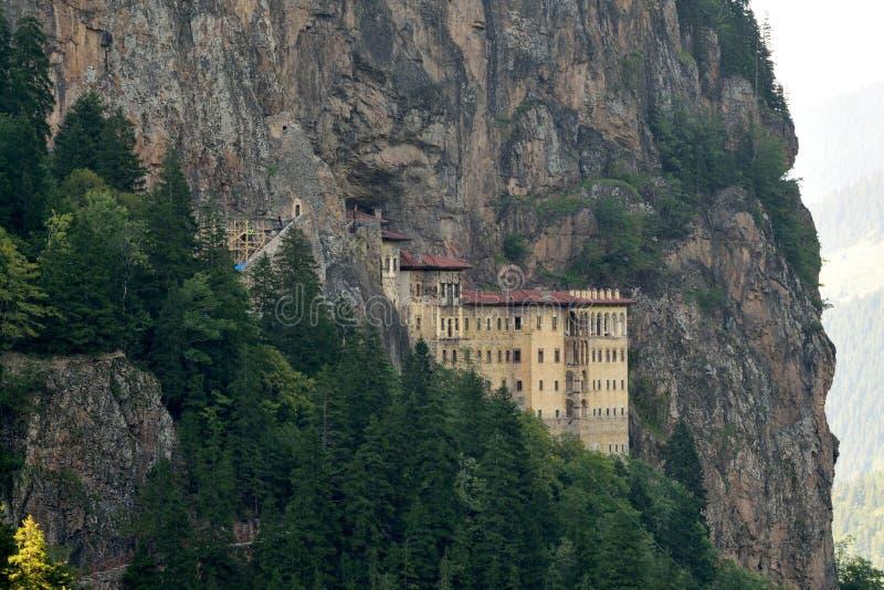 Sumela Monastery na costa do Mar Negro de Turquia fotos de stock royalty free