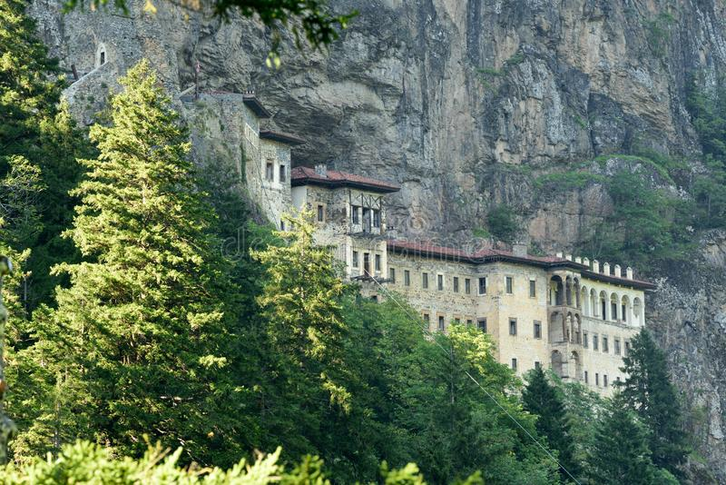 Sumela Monastery na costa do Mar Negro de Turquia foto de stock