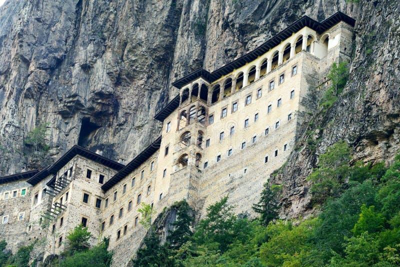 Sumela Monastery sulla costa di Mar Nero della Turchia immagini stock libere da diritti