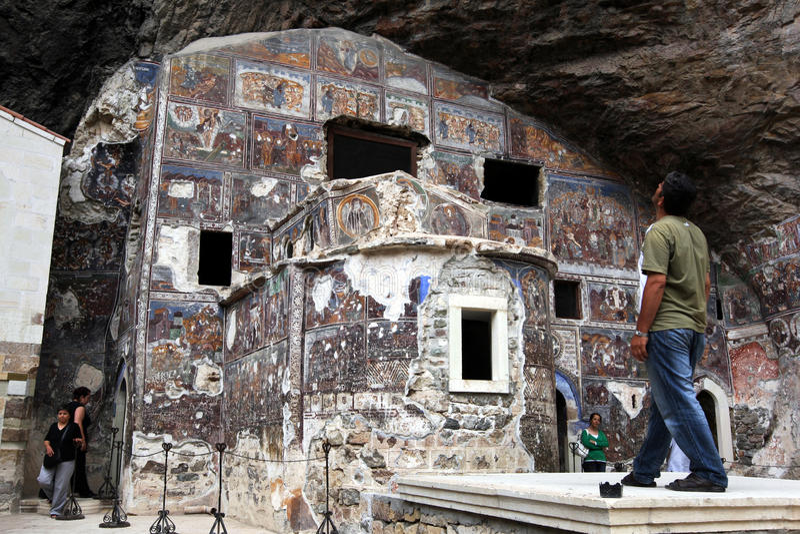 Sumela Monastery vicino a Trebisonda sulla costa di Mar Nero della Turchia immagine stock