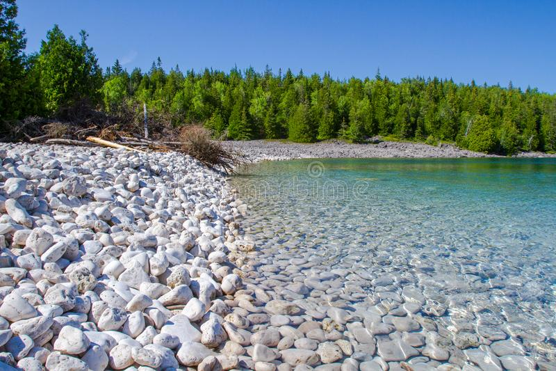 Sumer在布鲁斯半岛国家公园安大略加拿大 免版税库存图片