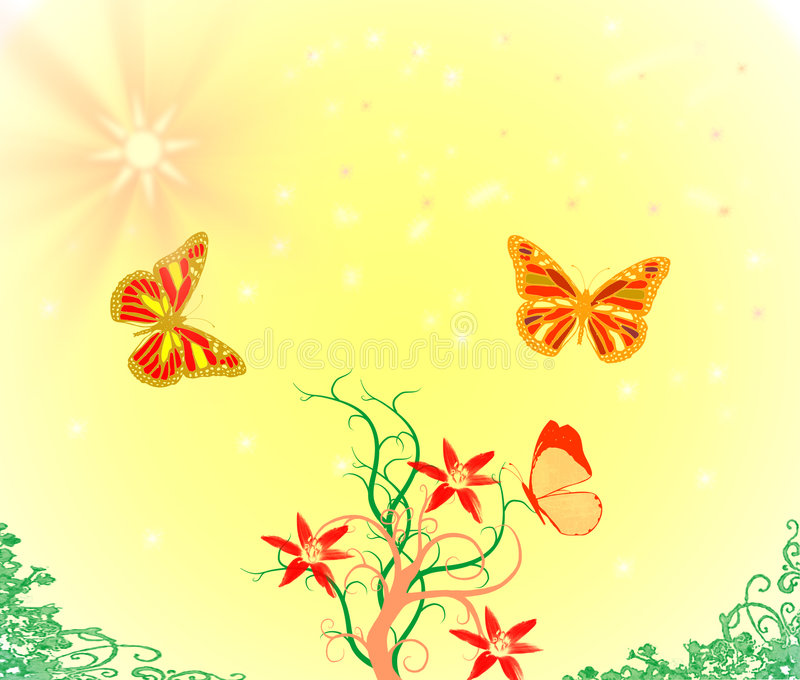 Download Sumer day stock illustration. Image of yellow, flower - 5176980