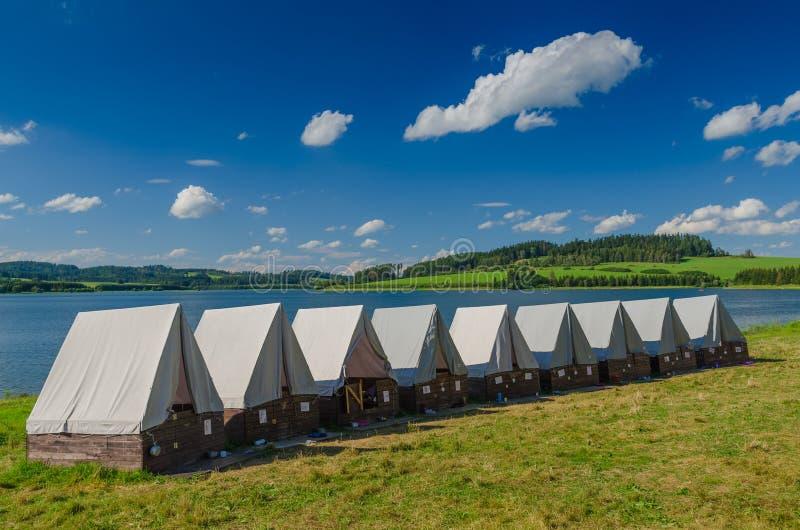 Sumer ` s帐篷阵营 库存图片