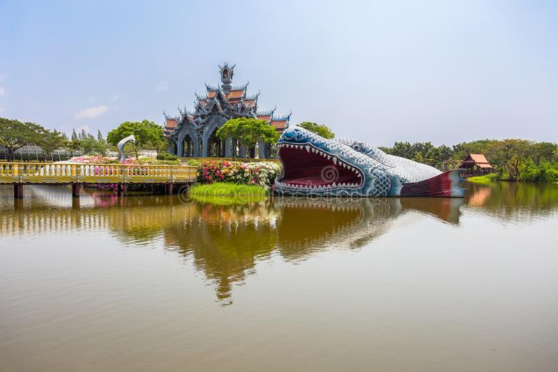 Sumeru Mountain Palace in Ancient City Park, Muang Boran, Samut Prakan province, Thailand stock images