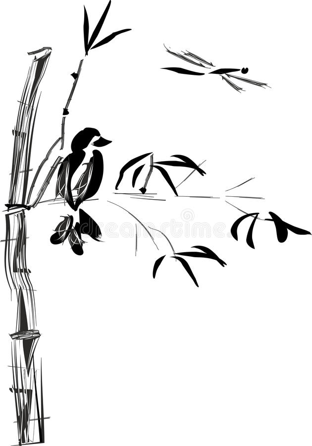 Download Sumi-e stock vector. Image of japanese, brush, chinese - 25793690