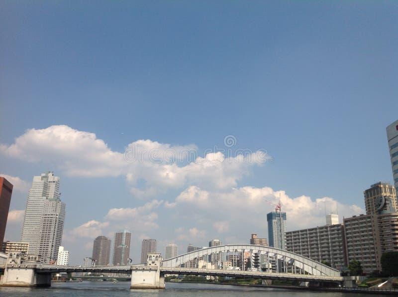 Sumida河在东京 免版税库存图片