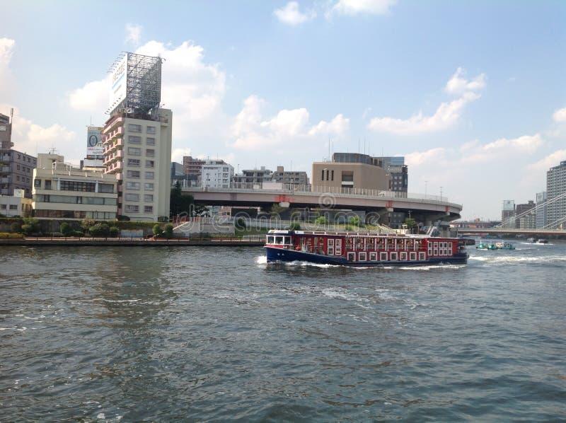 Sumida河在东京 免版税库存照片