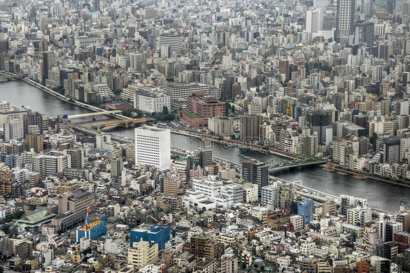 Sumida-Fluss, Tokyo, Japan lizenzfreie stockfotografie