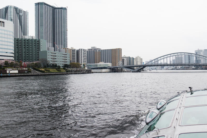 Sumida River Cruise View royalty free stock photo