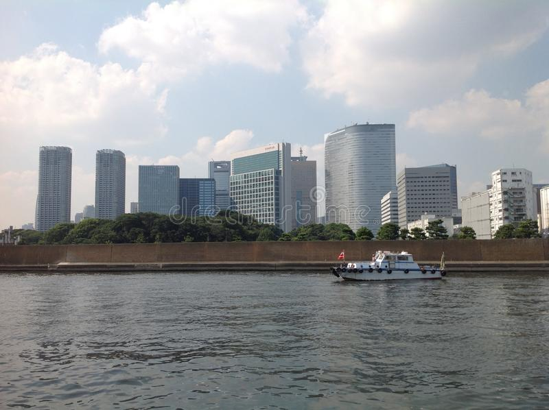 Sumida river in Tokyo royalty free stock images