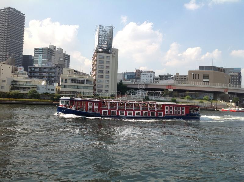 Sumida river in Tokyo stock images