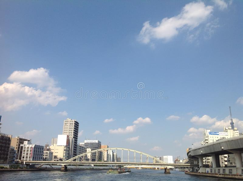 Sumida river in Tokyo royalty free stock photography