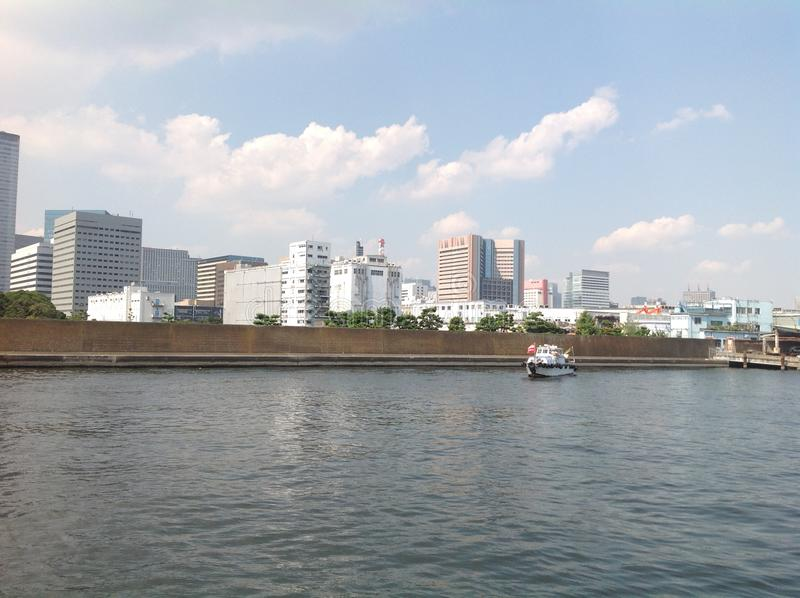 Sumida river in Tokyo royalty free stock image