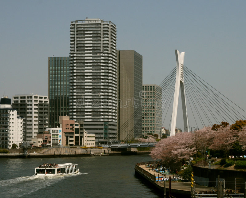 Sumida River View in Tokyo royalty free stock photography