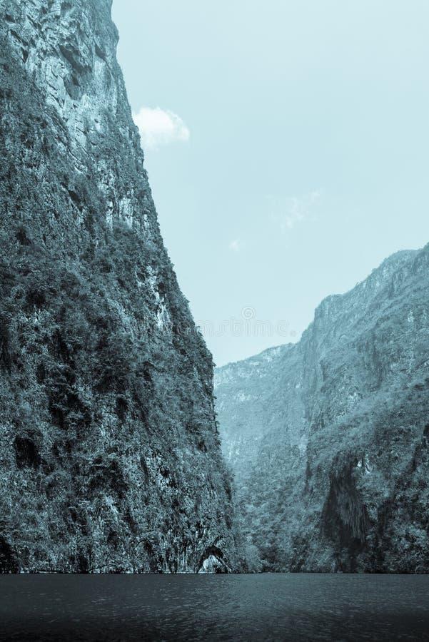 Sumidero峡谷,恰帕斯州,墨西哥 图库摄影