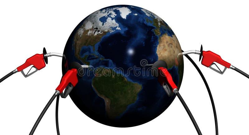 Suministro de petróleo mundial ilustración del vector