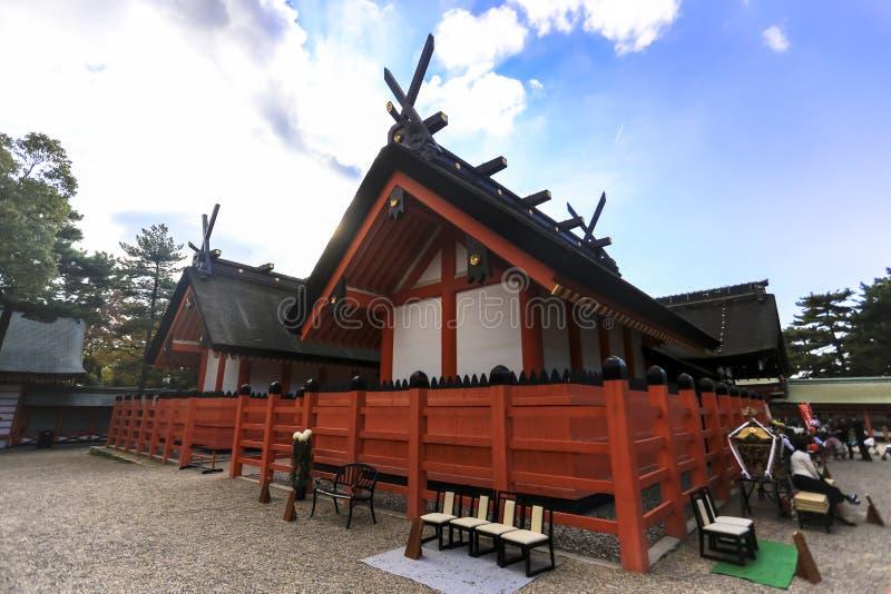 Sumiyoshi Taisha Shrine famous temple travel tourism landmark of Osaka Japan. Asia royalty free stock photos