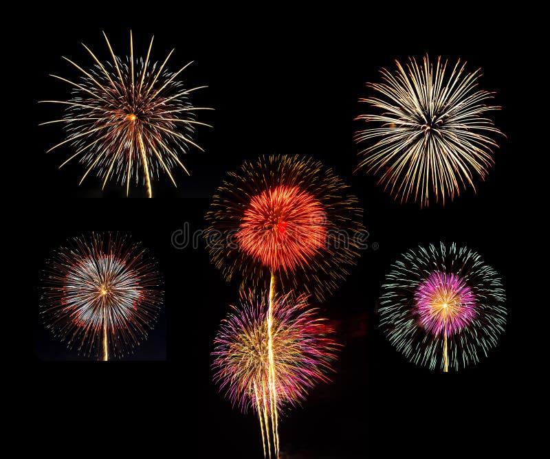Download Summary Of Big Beautiful  Fireworks For Celebration Stock Photo - Image: 38059276