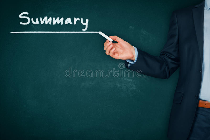 Summary. Heading - title page or background for business slide show for presentations stock photography
