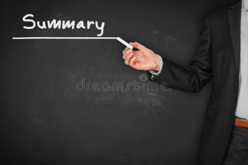 Summary. Heading - title page or background for business slide show for presentations royalty free stock photo