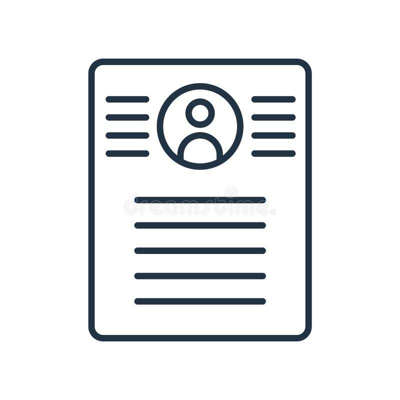 Summary icon vector isolated on white background, Summary sign royalty free illustration