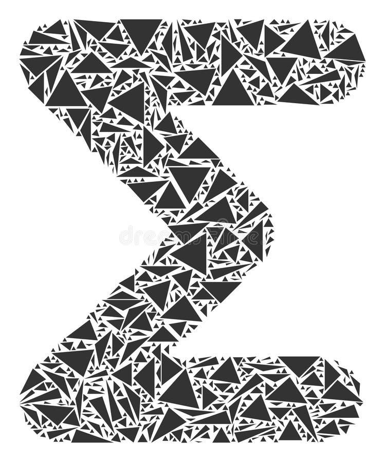 Summen-Collage von Dreiecken lizenzfreie abbildung