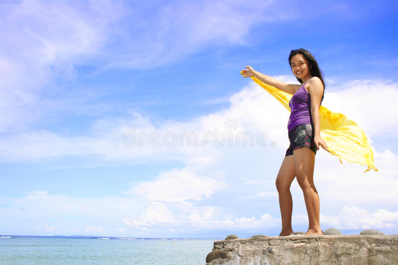 Summer. A beautiful summer in the Philippines stock photos