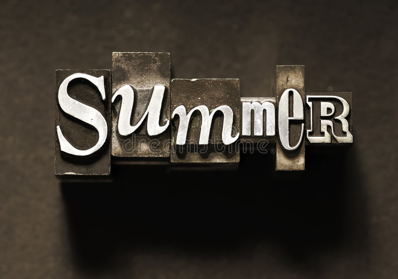 Download Summer stock image. Image of typeset, fashioned, printout - 5160345