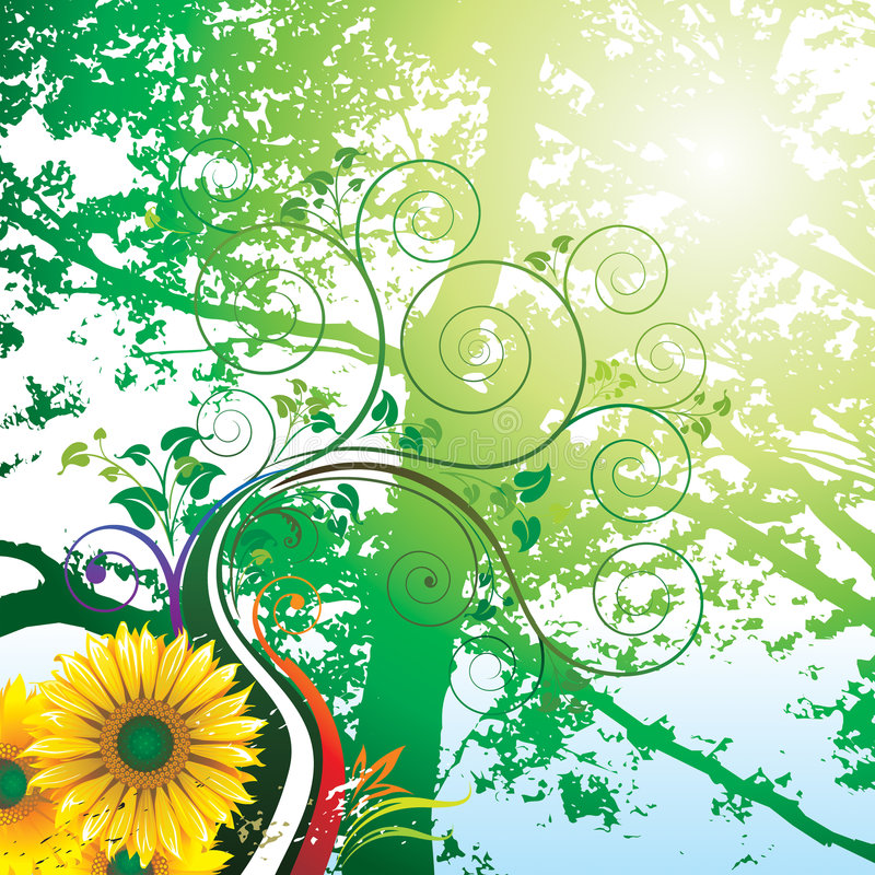 Download Summer stock vector. Image of beautiful, drawing, floral - 8215213