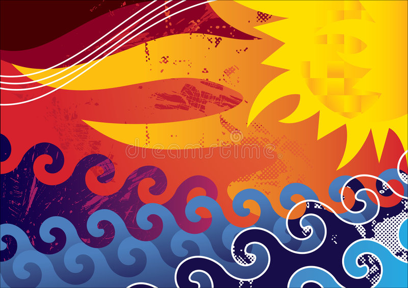 Summer. Abstract summer background. Vector illustration royalty free illustration