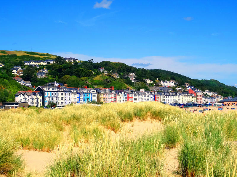 Summer in Aberdovey. Wales stock photos