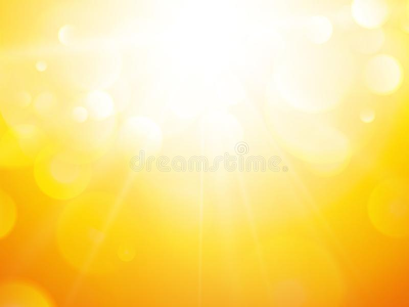 Summer abstract background with sun stock illustration