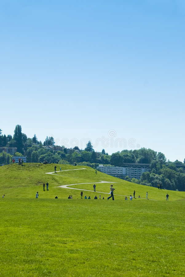 Summer Afternoon at Gas Works royalty free stock photography