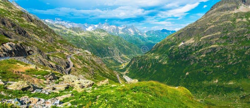Summer Alpine Panorama royalty free stock image