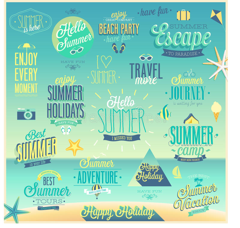 Free Summer And Travel Set - Labels And Emblems. Royalty Free Stock Image - 43671466