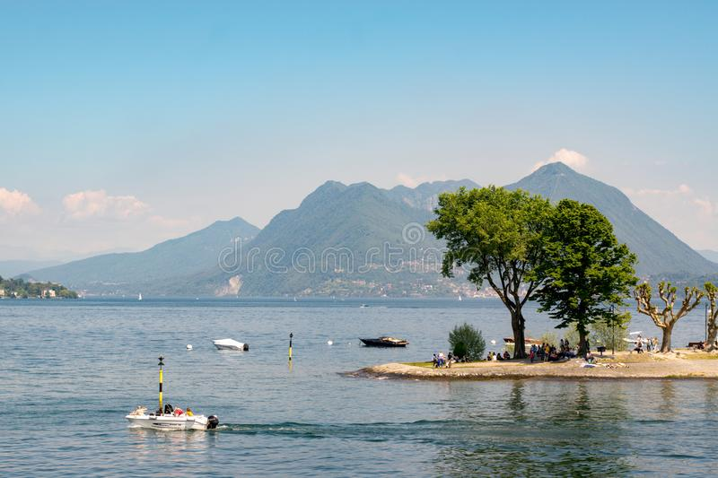 Summer arrives in Lake Maggiore stock image