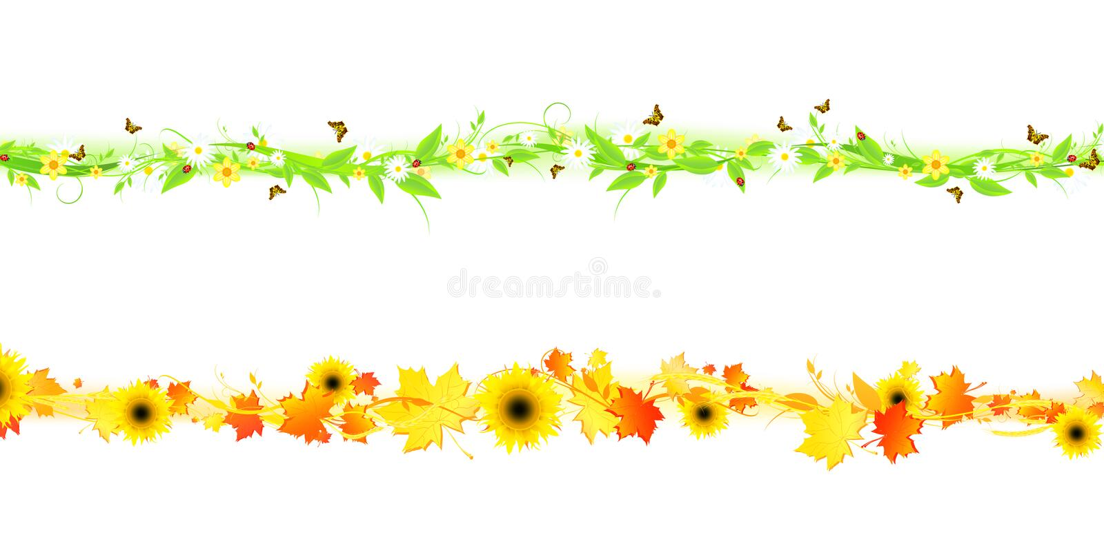 Download Summer and autumn stock vector. Image of ornate, chamomile - 13926744