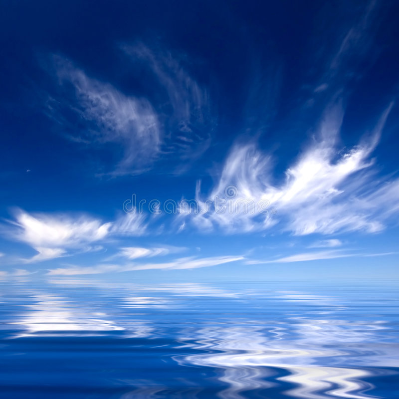 Download Summer Background With Blue Water And Sky Stock Image - Image: 4508423