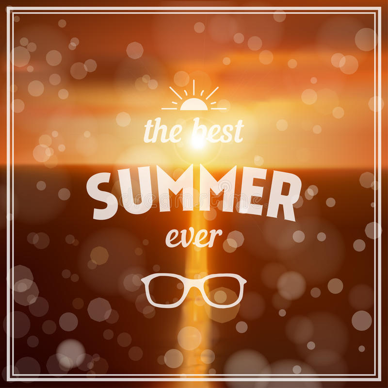 Download Summer Background With Bokeh Stock Illustration - Image: 38928326